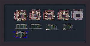 Dormitory, Building, Dwg, Section, For, Autocad, U2022, Designs, Cad