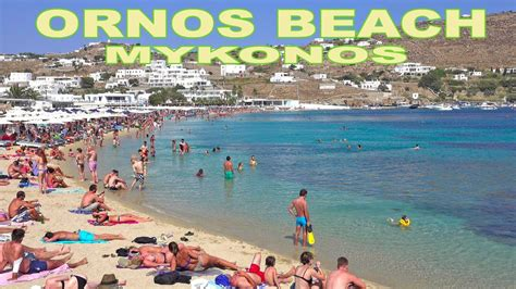Ornos Beach Mykonos 4k Youtube