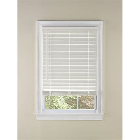 levolor   cordless white faux wood blinds common