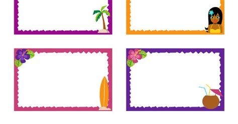 Free Printable Hawaiian Name Tags. The Template Can Also