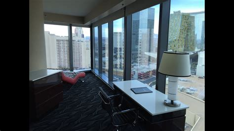 strip view  bedroom premier suite elara las vegas youtube