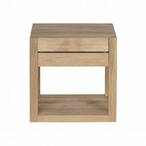 Table De Chevet Rouge : chevet oak azur d 39 ethnicraft 1 tiroir ~ Preciouscoupons.com Idées de Décoration