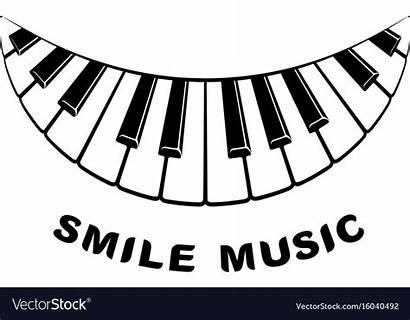 Piano Smile Icon Simple Vector