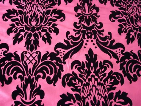 Cerise Pink& Black Damask Design Taffeta & Flock Curtain Gothic/burlesque Fabric White Thermal Blackout Curtains Gold Taffeta Custom Shower Curtain Rod Harris Tweed And Bedspread Sets What Is A Acrylic Mildew Resistant