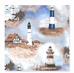 Number Chart For Kids Lighthouses Fleece Fabric Print O31773b