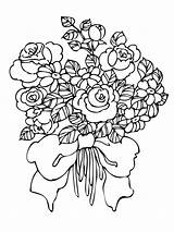 Coloring Flower Bouquet Pages Printable Flowers Recommended Mycoloring sketch template