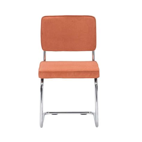 chaises orange chaise berga tissu orange leen bakker