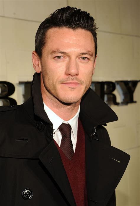 Luke Evans In Burberry Body Event Hosted By Christopher