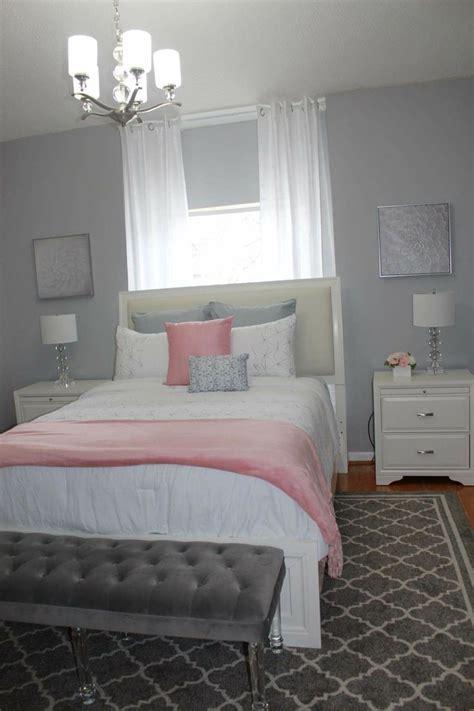 ideas  pink  grey bedding  pinterest grey bedrooms pink bedroom decor  teen bedroom inspiration