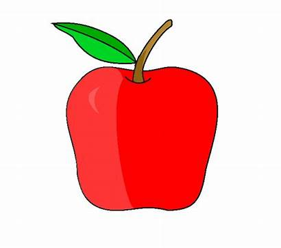 Apple Drawing Draw Apples Easy Steps Clipart