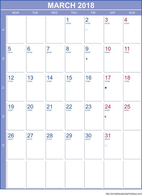 Monthly Calendar Template 2018 Monthly Calendar Template Weekly Calendar Template