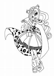 Beautiful Clawdeen Wolf Coloring Page Adult Coloring