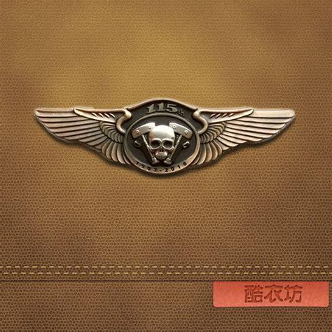 classic wings engine cap badge enamel pins