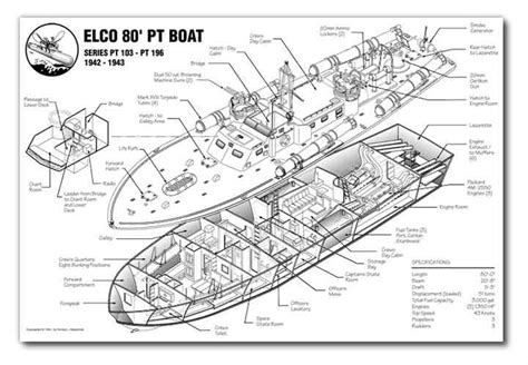 Pt Boat Cutaway by Sle 1 Display Graphic Dimensions Inc