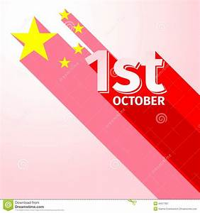 PRC National Day Holiday Long Shadow Stock Photo - Image ...