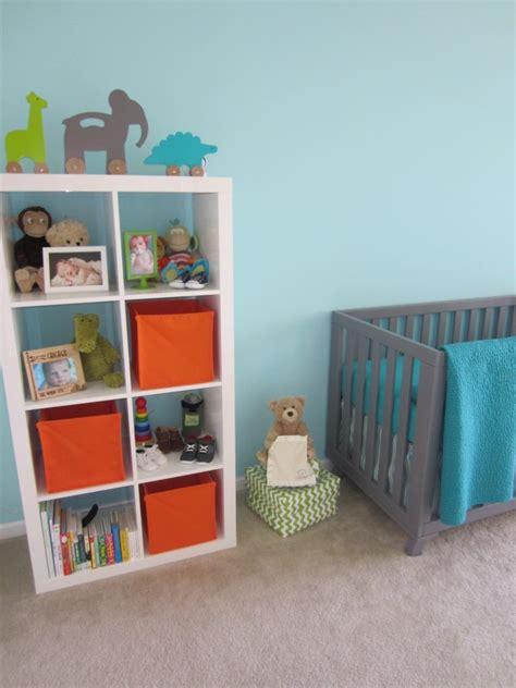 bright modern baby boy nursery project nursery