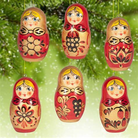 khohloma style ornaments russian christmas ornamets