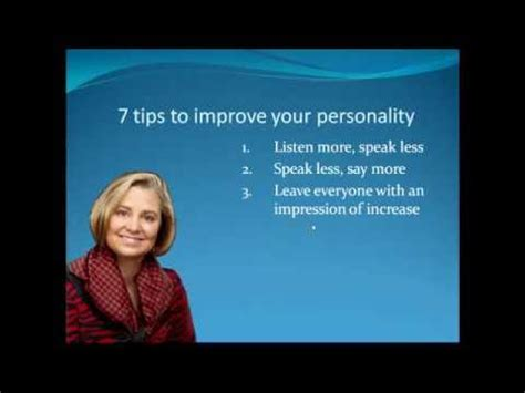 7 Tips On How To Improve Personality Youtube