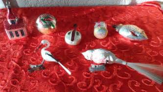 antique christmas decorations   silver coloured