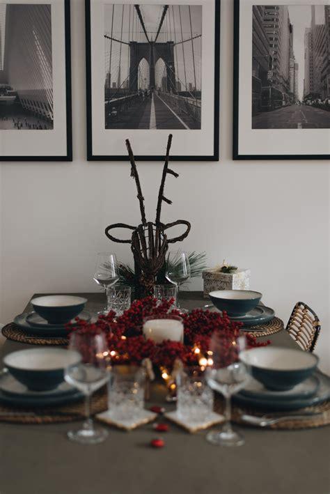 Unsere Tischdekoration Zu Weihnachten + Geschmückter