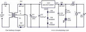 Car Battery Charger With Mc78t12