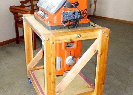flip top woodworking stand workshop pinterest