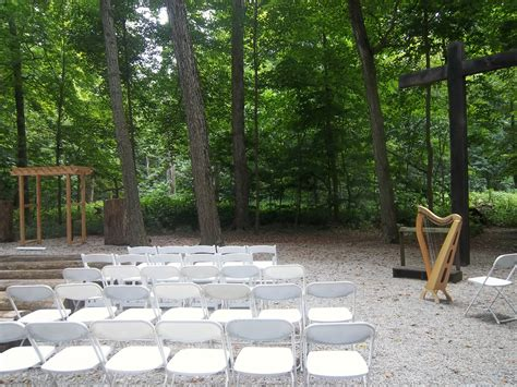 bloomington harpist wedding ceremony at funks grove