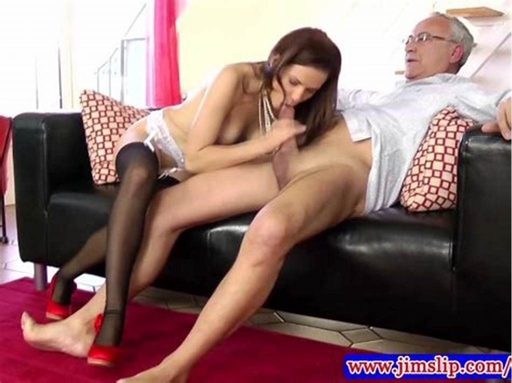 #Teen #Amateur #In #Stockings #Fucked #By #Old #Man