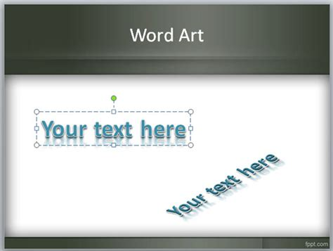 word powerpoint online what is wordart feature in powerpoint