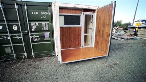 Boat In A Shipping Container by Boat Builder S 20 Shipping Container Tiny Home