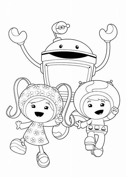 Umizoomi Coloring Team Pages Printable Jr Colouring