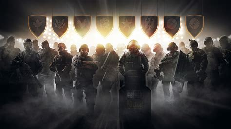 wallpaper tom clancys rainbow  siege pro league game shooter soldier police os