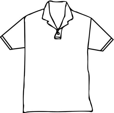 Coloring T Shirt by Polo T Shirt Coloring Page