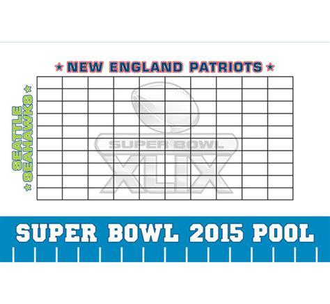 super bowl board 2015 bowl xlix theme pool board