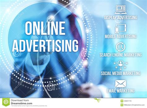 Online Advertising Stock Photo Image Of Customer