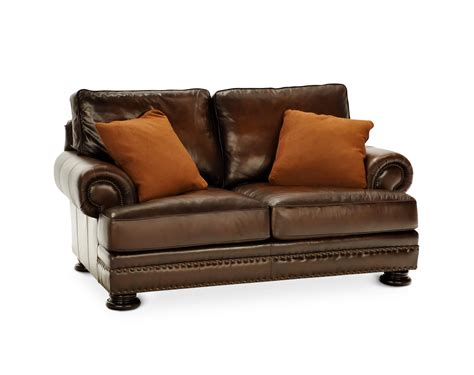 bernhardt foster leather furniture foster elite loveseat by bernhardt hom furniture