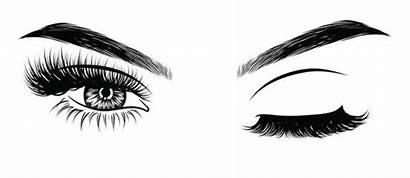 Eyelash Winking Eye Eyebrows Vector Shaped Lashes