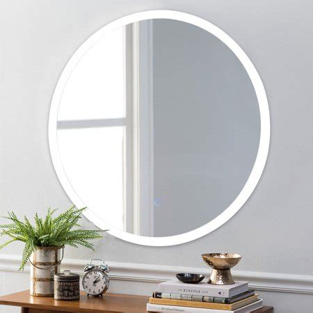 Circular Bathroom Mirrors by Costway 24 Led Mirror Illuminated Light Wall Mount
