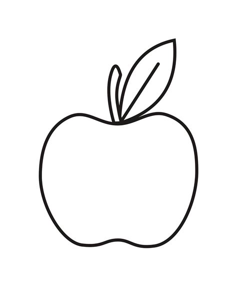 apple coloring pages    print