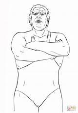 Wwe Coloring Giant Andre Printable Drawing Clipart Aj Brock Lesnar Miz Lee Template Reigns Roman Sketch Popular sketch template
