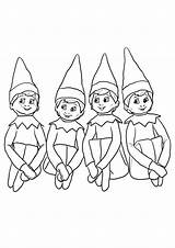 Elf Shelf Pages Coloring Tulamama Printable Little Print sketch template