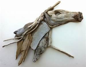 """Driftwood Art """"The Running Horse"""" Driftwood Art handmade"""