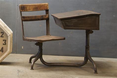 Vintage French Atelier School Desk  Factory 20