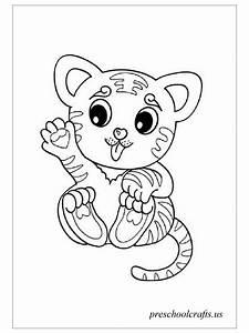 Baby Tiger Coloring Pages Preschool Crafts