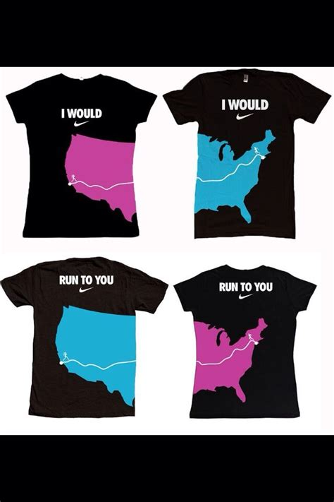 Nike u0026quot;I would run to youu0026quot; athletic couples shirts   Want   Pinterest   Runners We and Couple