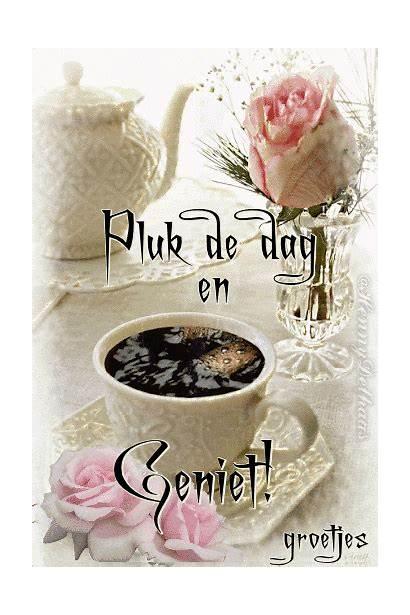 Goedemorgen Koffie Giphy Coffee Plaatjes Dag Via