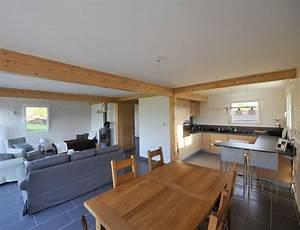 decoration interieure maison ossature bois With maison bois et pierre 5 chandolas maison ossature bois charpente traditionnelle