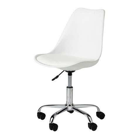 chaise de bureau but chaise de bureau blanche bristol maisons du monde