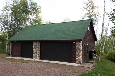 3 Car Garage With Stone Accents  Economy Garages Usa, Inc