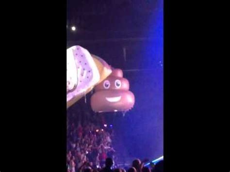 Katy Perry Had An Inflatable Poo Emoji Hovering Around